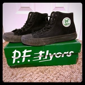 P.F. Flyers sneakers. Black, high tops Men's sz 6